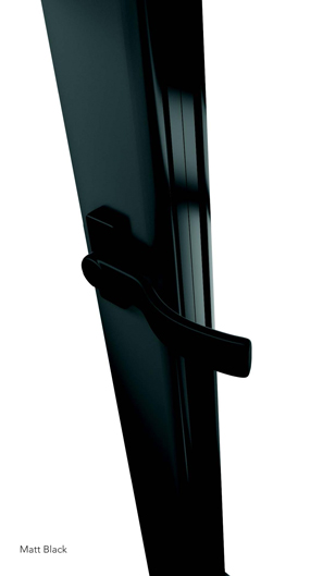 WeatherShield matt black door